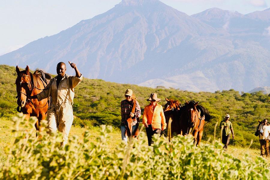 Safari a caballo en Kilimanjaro