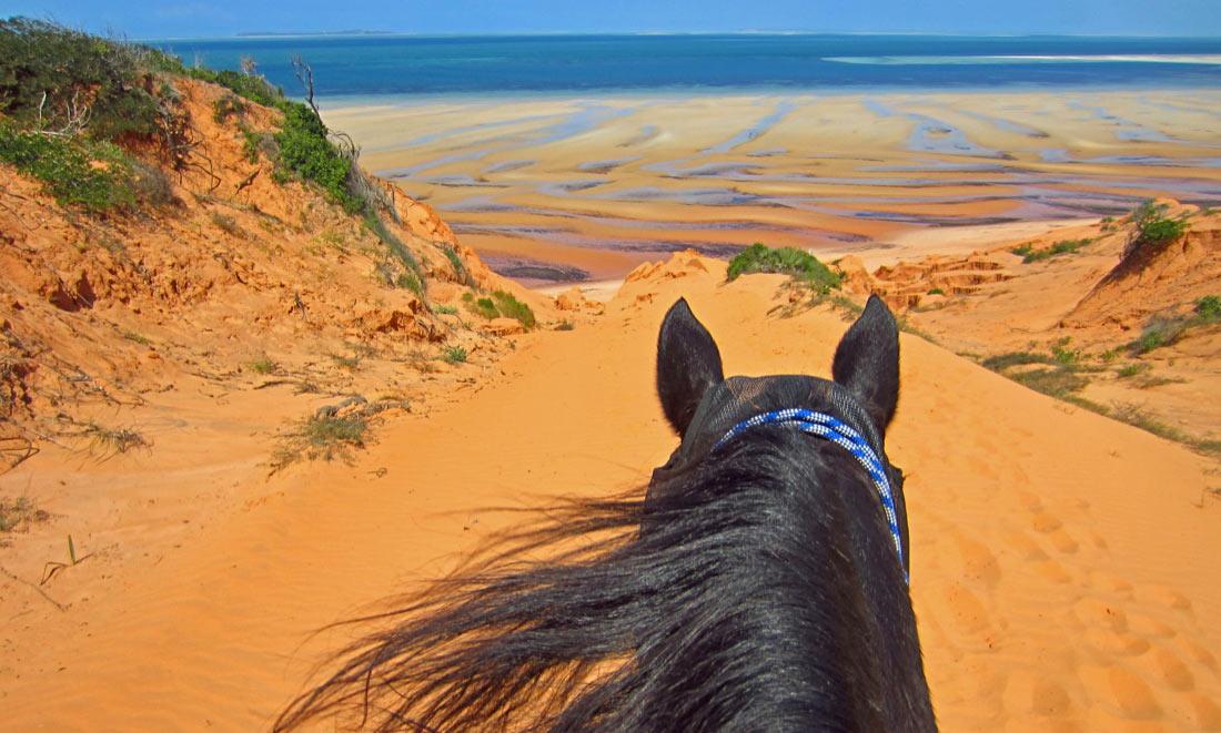 Vacaciones a Caballo en las playas Mozambique