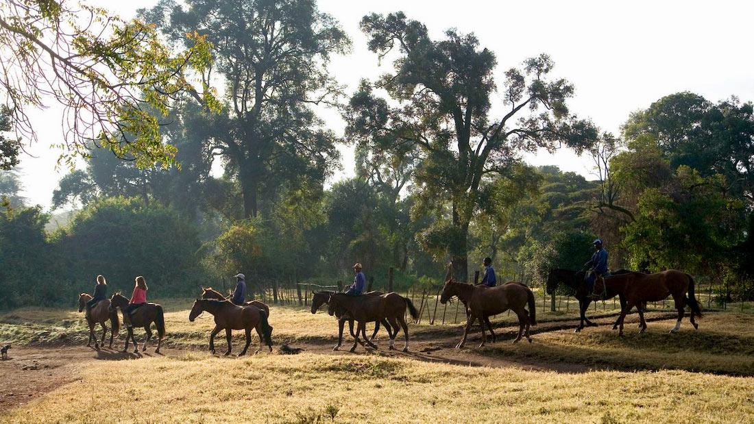 Safari a caballo en kenia